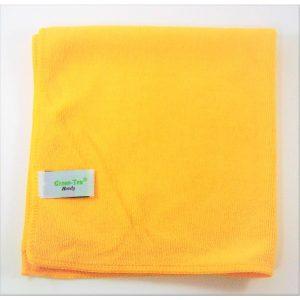 Mikropluošto šluostė Handy, 380×380 mm, geltona, Green-Tex